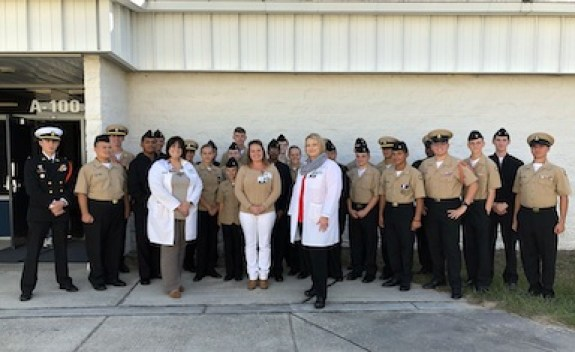 Oak Hill Hospital Presents Donation To Central High School Njrotc