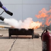 Training with Fire Extinguisher