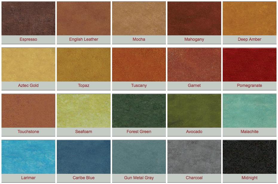 Eagle Concrete Acid Stain Colors