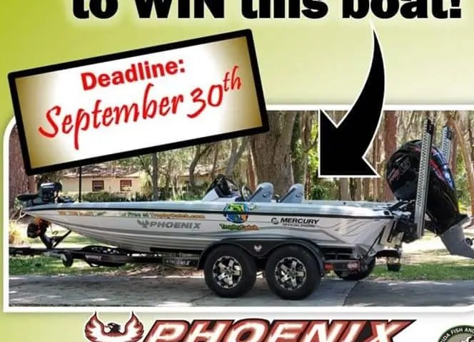 enter to win a boat in Florida bass fishing