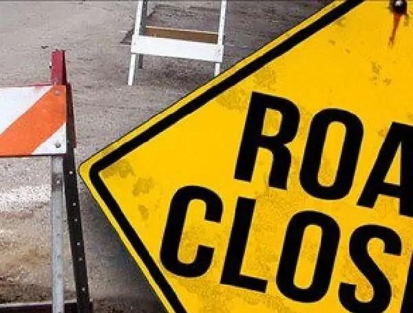 road lane closed