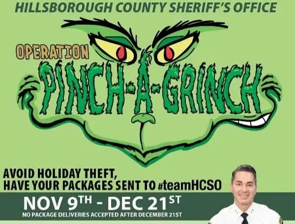 Operation Pinch A Grinch offers residents an opportunity to donation to charity if they wish. Amazon will donate 0.5% of each purchase to HCSO Charities if residents shop through smile.amazon.com