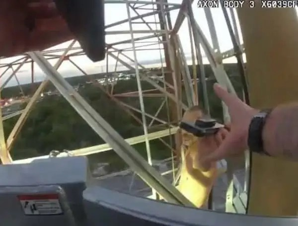save man from 300 foot tower