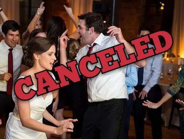 No More Dancing At Weddings in DC