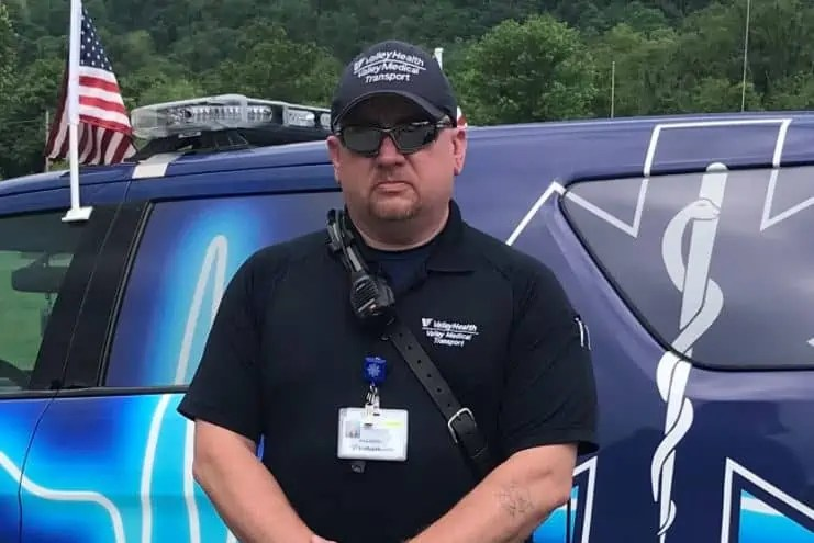 Christopher Green has worked in emergency medical services for nearly 30 years. He said having a stroke himself changed his outlook on how to respond to 911 calls for stroke. (TARA BUTLER)