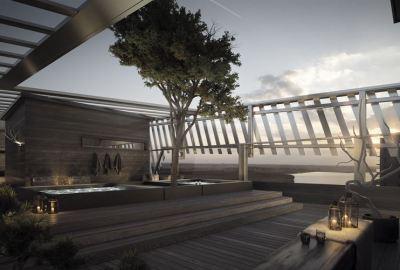 Lapland Hotels suunnittelee uniikkia terassi- ja saunamaailmaa Tampereen kattojen ylle
