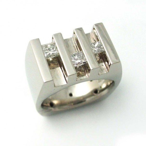 Sliding Princess Cut Diamond Ring TamRon Jewelry