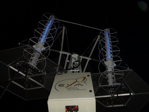 Resim- Hermes_a Uydu yer kontrol istsyonu antenlerinin görünümü.