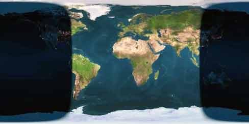Resim-3. Bugün tam saat 13:02 de Dünyamızın gündüz ve gece kısmını görüyorsunuz.