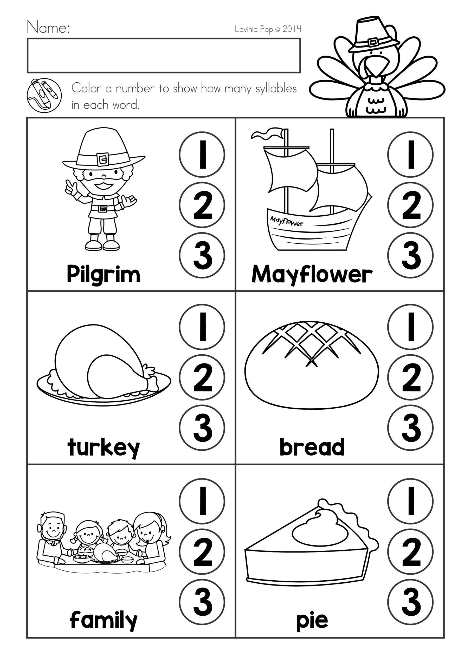 Thanksgiving Worksheets For High School Math