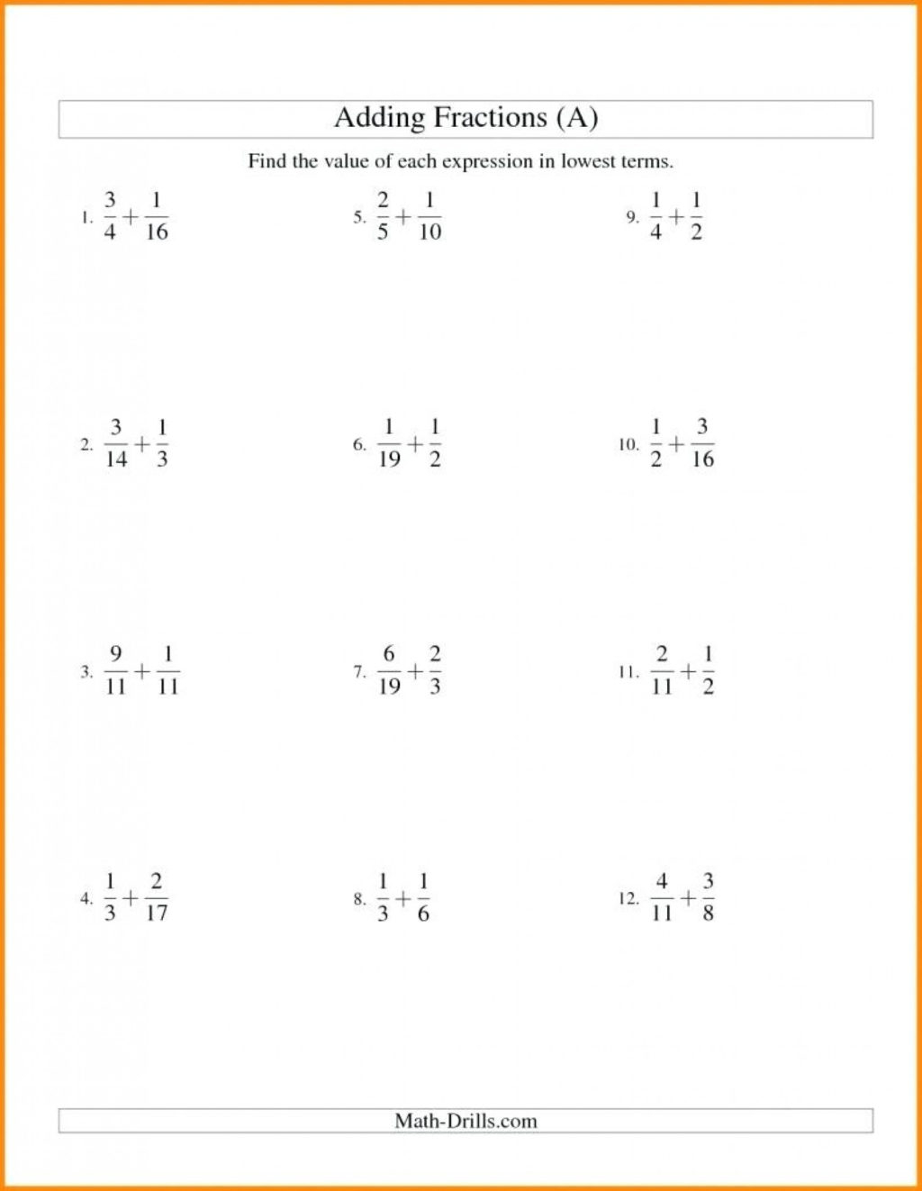 Equivalent Fractions Worksheet Grade 5