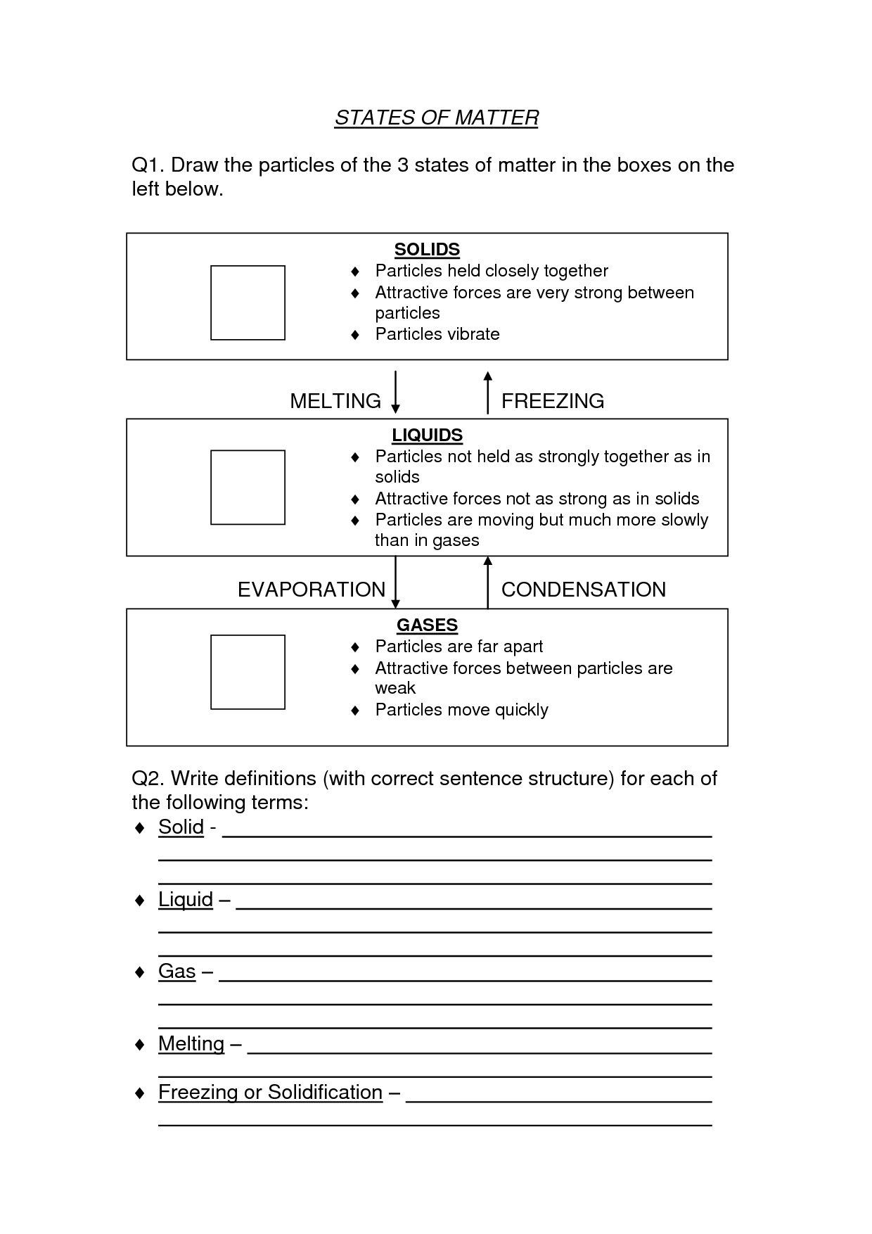 Physical Science Worksheets High School