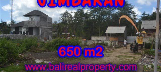 Jual tanah di Jimbaran 650 m2 di Jimbaran Ungasan