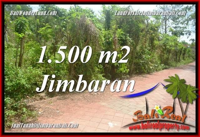 TANAH MURAH  di JIMBARAN BALI DIJUAL 1,500 m2  LINGKUNGAN VILLA