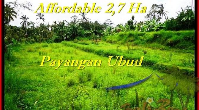 DIJUAL TANAH MURAH di UBUD BALI 27,000 m2 di Ubud Payangan