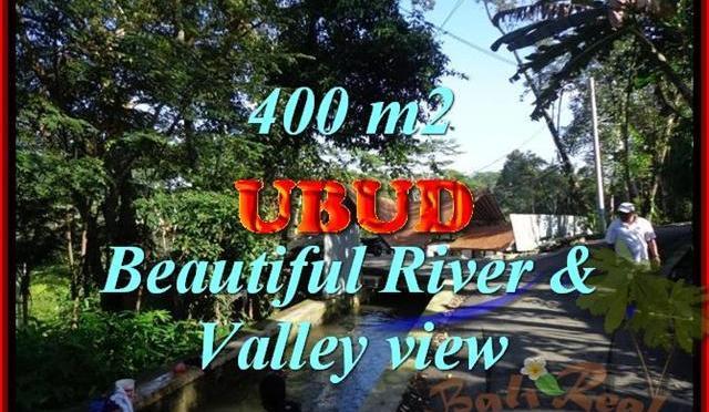 TANAH di UBUD JUAL 400 m2 View sungai dan Tebing
