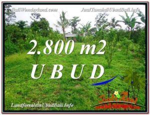 INVESTASI PROPERTI, DIJUAL TANAH di UBUD BALI TJUB592