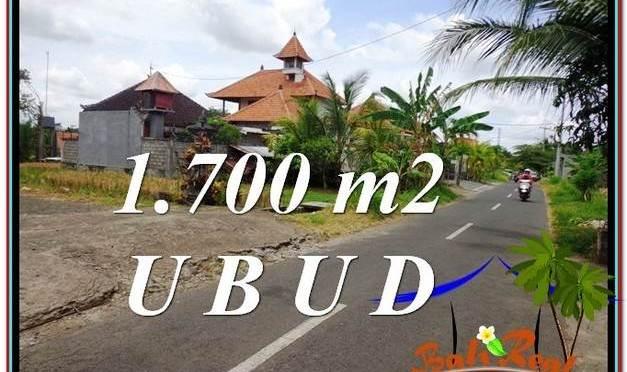 TANAH di UBUD BALI DIJUAL MURAH 1,700 m2 View Pangkung Link Villa