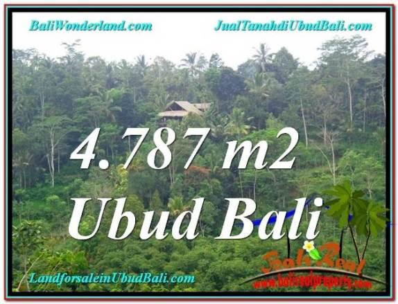 TANAH MURAH DIJUAL di UBUD BALI 4,787 m2 di Ubud Tampak Siring