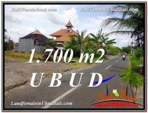 JUAL TANAH MURAH di UBUD BALI 1,700 m2 di Sentral Ubud