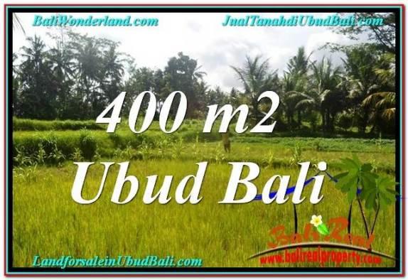 JUAL TANAH di UBUD BALI 400 m2  View Sawah