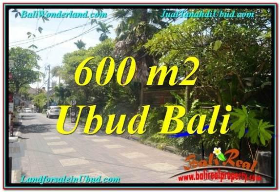 TANAH DIJUAL MURAH di UBUD BALI 600 m2  Kawasan Hotel, Villa dan Restaurant