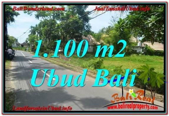 JUAL TANAH MURAH di UBUD BALI 1,100 m2  View Sawah, Sungai Kecil, Link. Villa