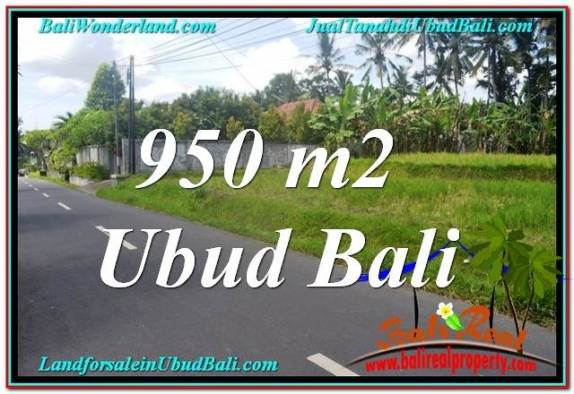 TANAH di UBUD BALI DIJUAL MURAH 950 m2 di Sentral / Ubud Center