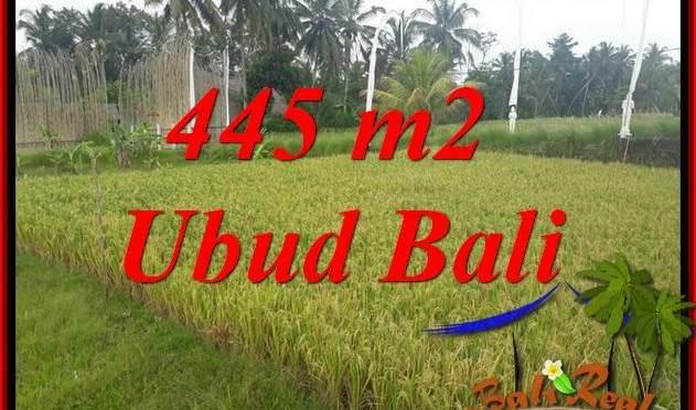 JUAL Tanah di Ubud 445 m2 di Ubud Pejeng