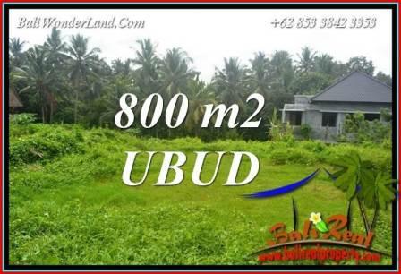 JUAL Tanah Murah di Ubud 800 m2 di Sentral Ubud