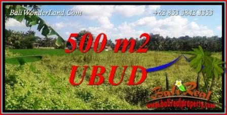 Tanah Dijual di Ubud Bali 500 m2 View Sawah lingk. Villa
