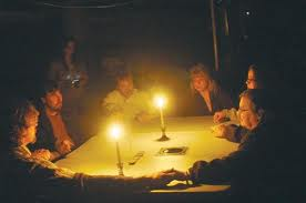 performing a seance