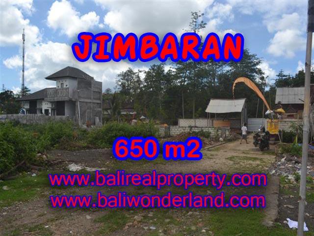 Tanah dijual di Jimbaran 650 m2 di Jimbaran Ungasan