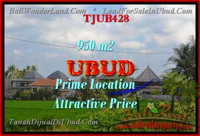 TANAH DIJUAL di UBUD 950 m2 di Sentral Ubud