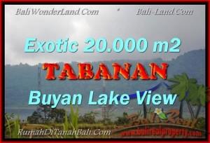 TANAH JUAL MURAH  TABANAN 20,000 m2  View gunung dan danau buyan