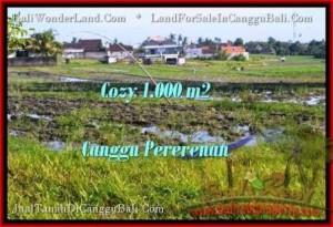 JUAL TANAH di CANGGU BALI 1,000 m2 di Canggu Kayutulang