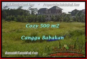 TANAH MURAH di CANGGU JUAL 500 m2  View laut dan sawah link villa