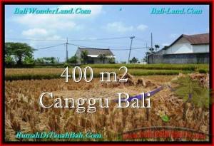 JUAL TANAH di CANGGU 400 m2  View sawah, lingkungan villa