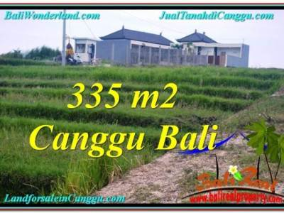JUAL TANAH MURAH di CANGGU BALI 3.35 Are View sawah, sungai, lingkungan villa