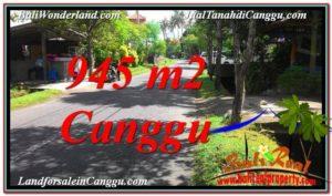 TANAH DIJUAL di CANGGU 945 m2 Lingkungan Villa