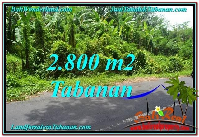 TANAH DIJUAL MURAH di TABANAN 2,800 m2 di Tabanan Kerambitan