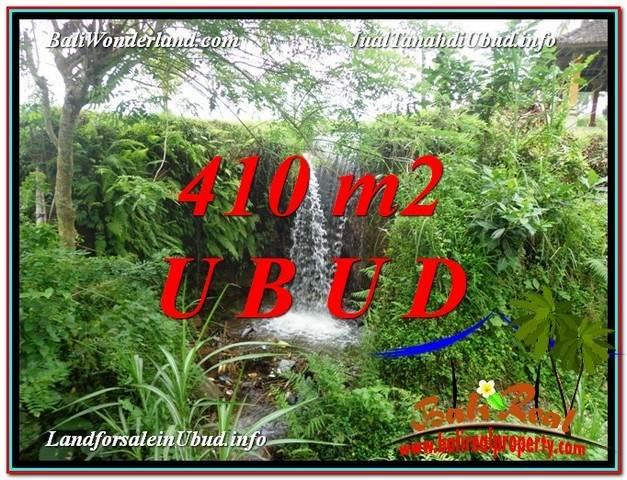 JUAL TANAH MURAH di UBUD BALI 410 m2  View Sawah dan Sungai