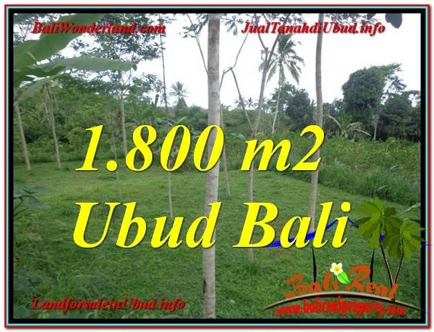 TANAH JUAL MURAH  UBUD BALI 1,800 m2  View Tebing dan kebun