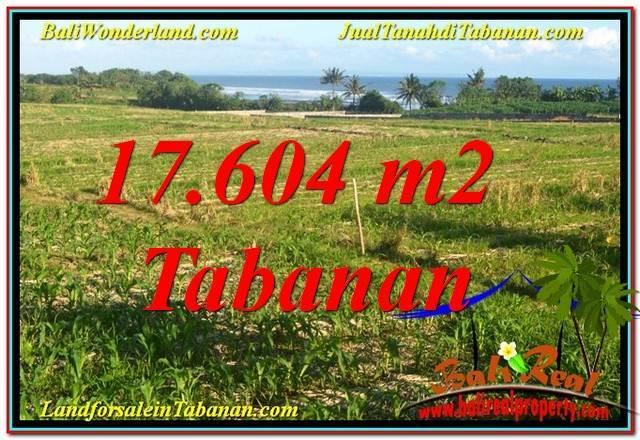 JUAL MURAH TANAH di TABANAN BALI 17,604 m2  View Laut, Gunung dan sawah