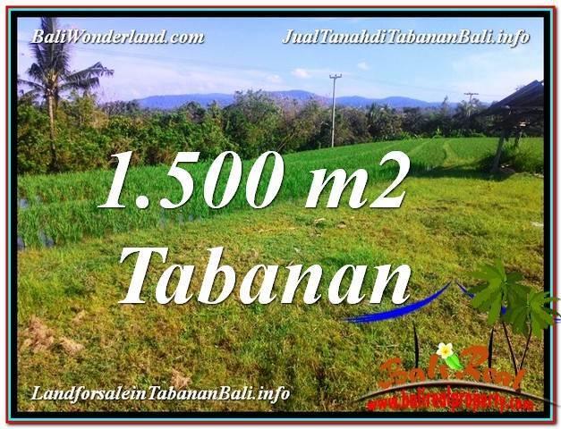 TANAH DIJUAL di TABANAN BALI 1,500 m2  View sawah