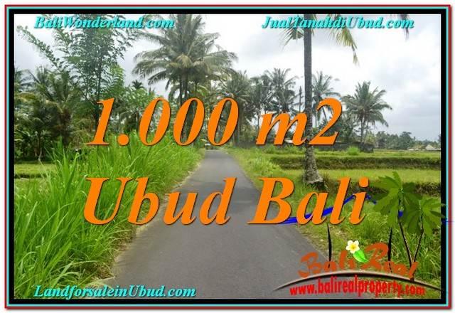 TANAH MURAH DIJUAL di UBUD BALI 10 Are View Sawah, Link. Villa