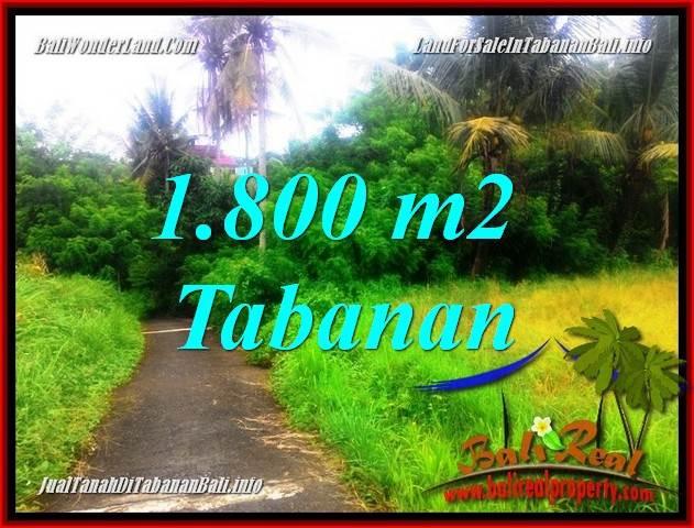 TANAH MURAH JUAL   TABANAN 18.5 Are View sawah