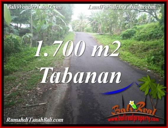 DIJUAL TANAH MURAH di TABANAN 1,700 m2 di TABANAN SELEMADEG