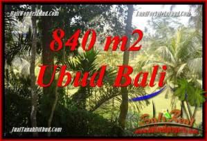 JUAL Murah Tanah di Ubud 840 m2 View sungai dan sawah