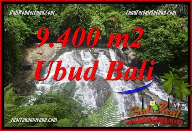 Tanah Dijual di Ubud Bali 9,400 m2  View sungai air terjun